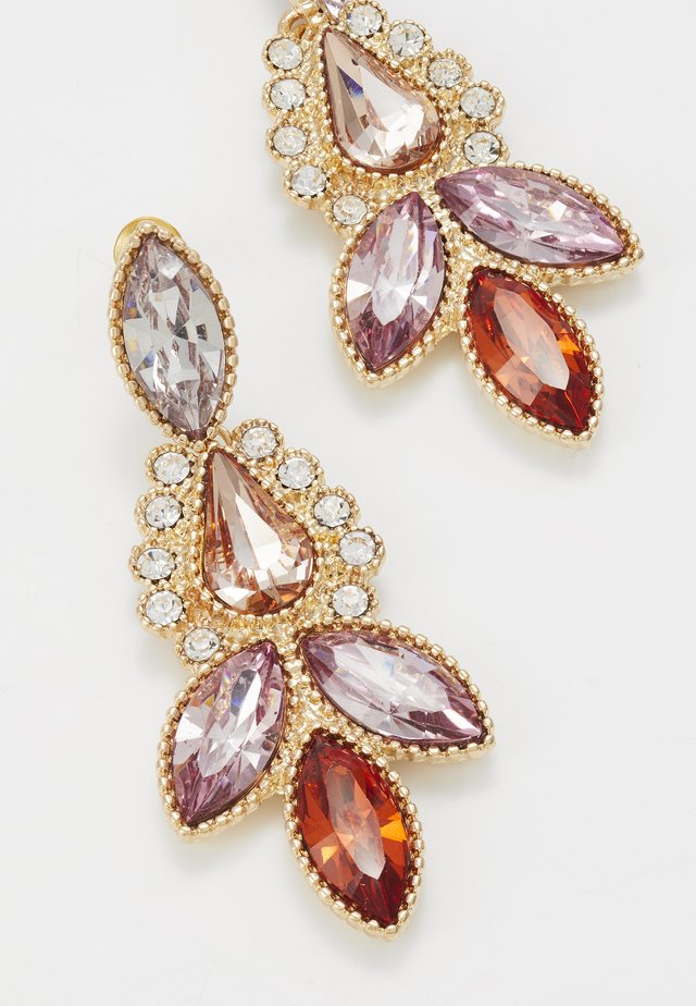 ONLKAIYA EARRING - Oorbellen - gold-coloured/pink/red/clear
