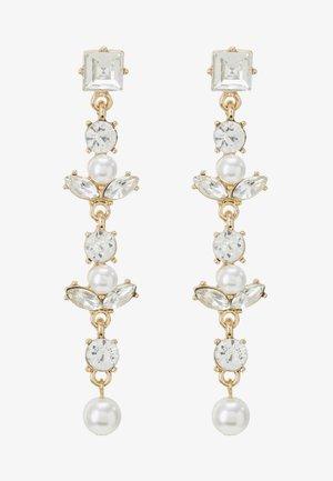 ONLLONGPEARL EARRING - Earrings - gold-coloured