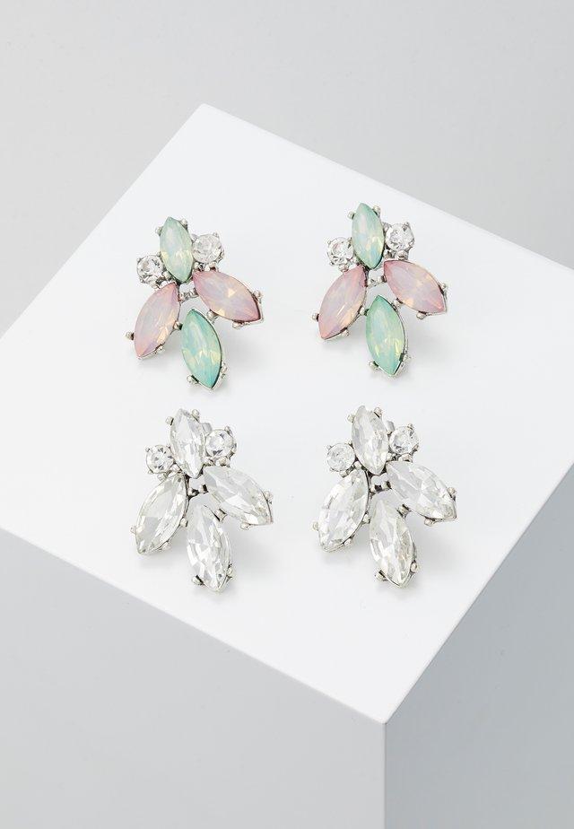 ONLSPYFLY EARRING 2 PACK - Earrings - silver/multi