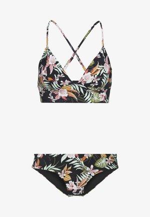 ONLHOLLY SET - Bikini - black/tropical