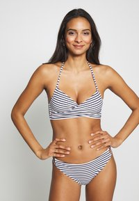 ONLY - ONLJULIE BRAZILIAN SET - Bikini - peacoat/blue/bright white - 0