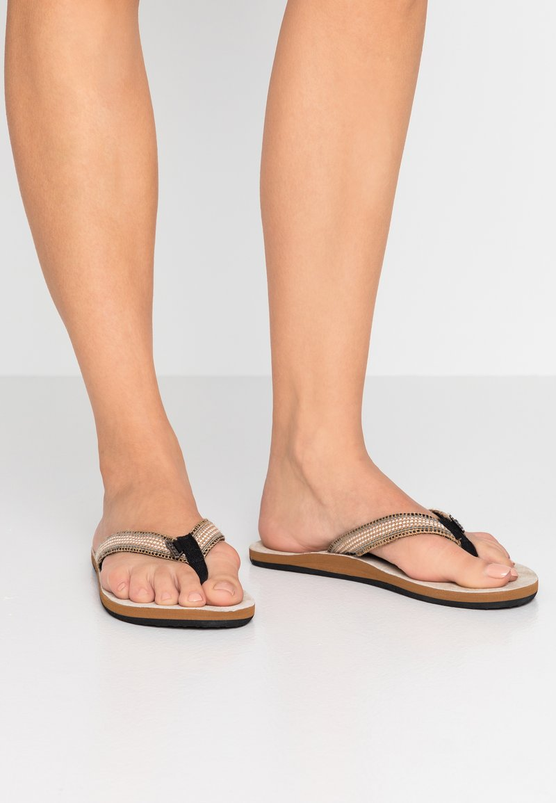 O'Neill - NATURAL STRAP  - T-bar sandals - black out