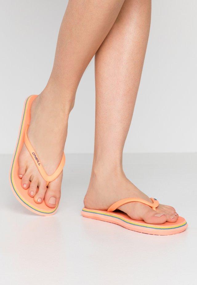 PROFILE LOGO  - Pool shoes - mandarine