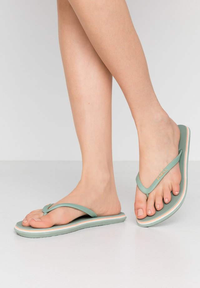 PROFILE LOGO  - Teenslippers - turquoise