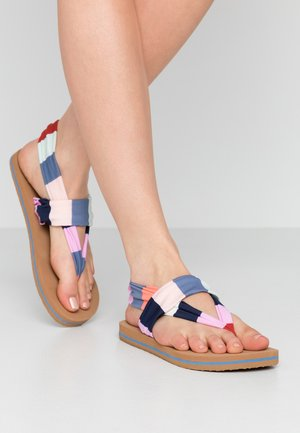DITSY WRAP  - T-bar sandals - red/blue