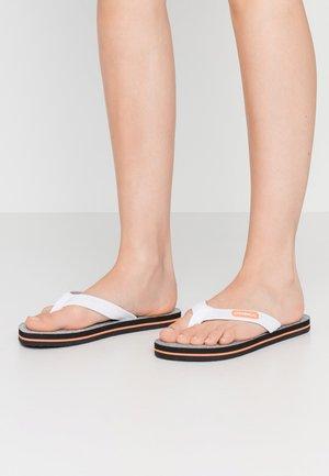 PROFILE - T-bar sandals - silver