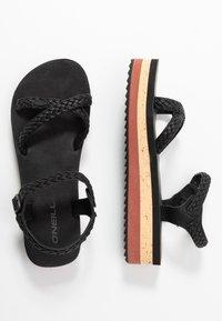 O'Neill - BATIDA PLATFORM - Platform sandals - black out - 3