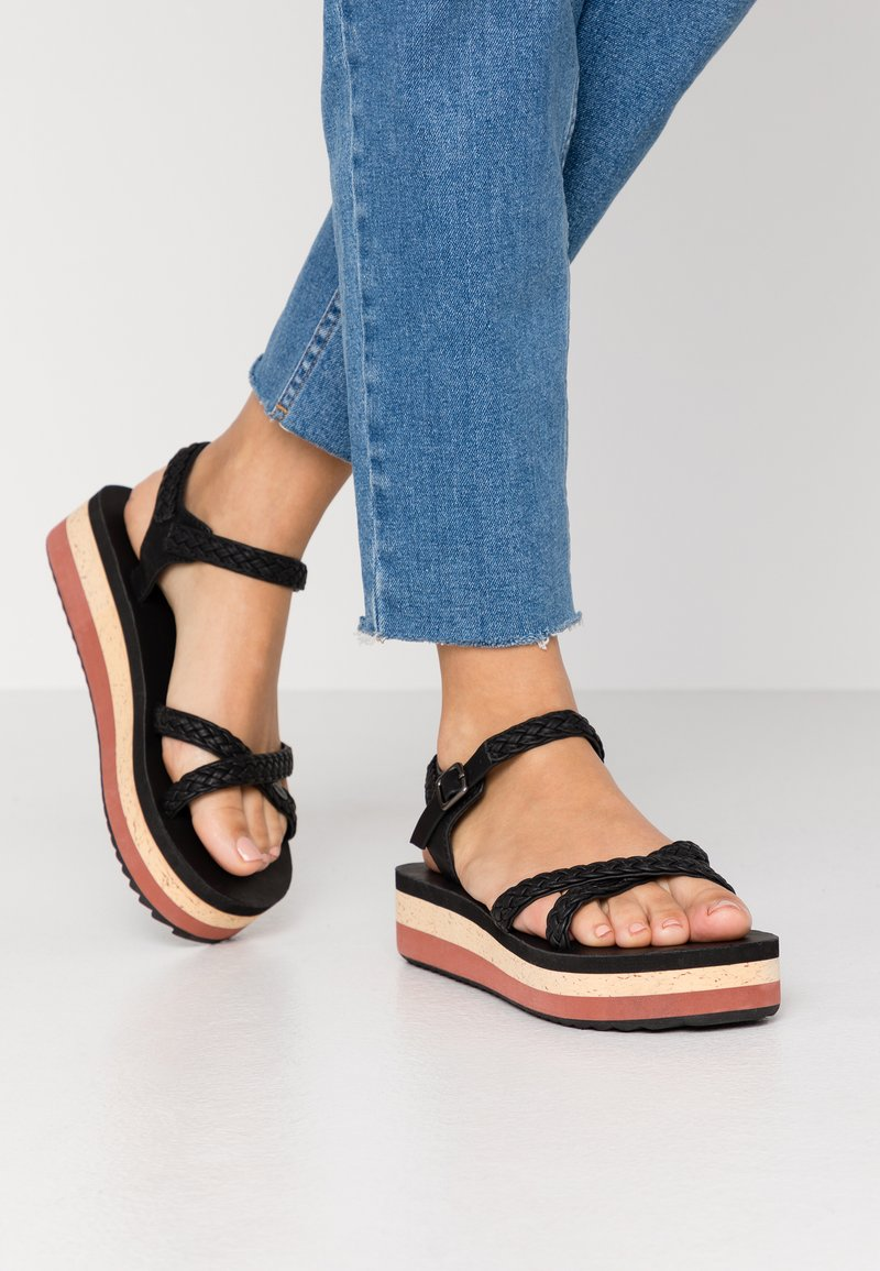 O'Neill - BATIDA PLATFORM - Platform sandals - black out