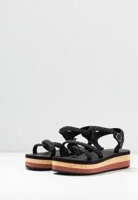 O'Neill - BATIDA PLATFORM - Platform sandals - black out - 4