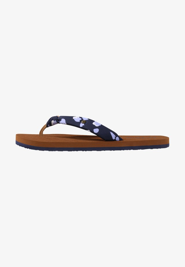 Pool shoes - blauw aop