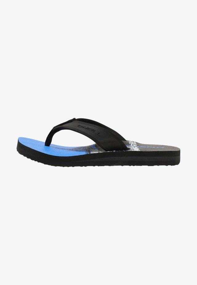 Mules - blau schwarz