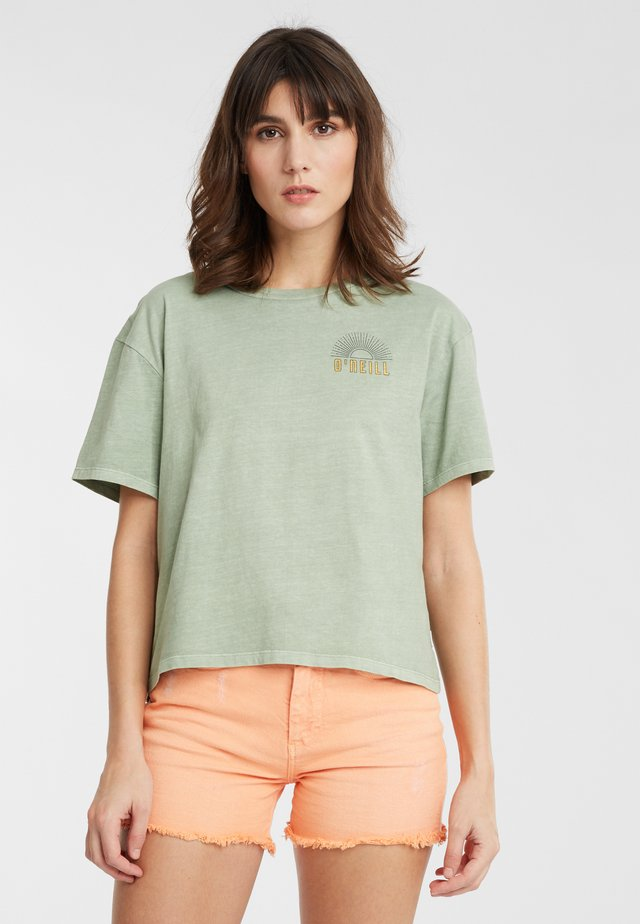 LONGBOARD  - Print T-shirt - light green