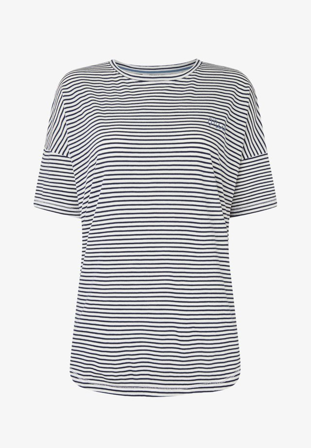 ESSENTIALS - T-Shirt print - white/blue