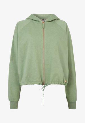 ELIZABETH - Zip-up hoodie - light green