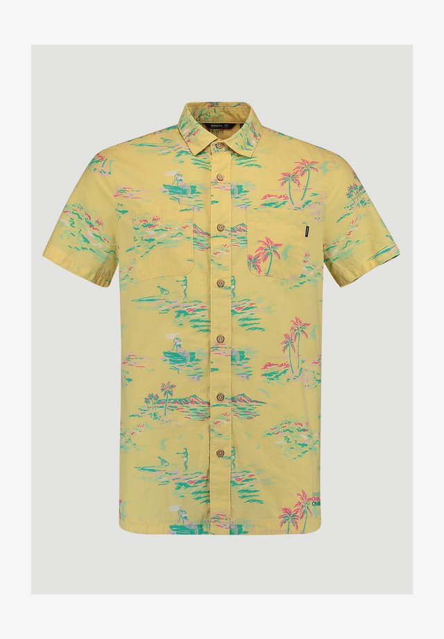 SHIRTS/BLOUSES S/SLV TROPICAL SUN S/SLV SHIRT - Chemise - yellow aop w/ green