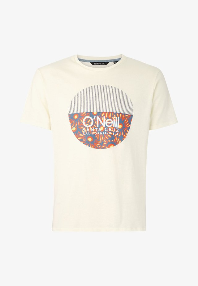 BEDWELL - Print T-shirt - white
