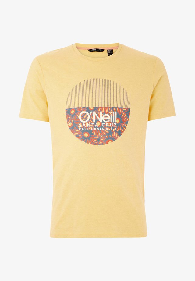 BEDWELL - T-shirt print - yellow
