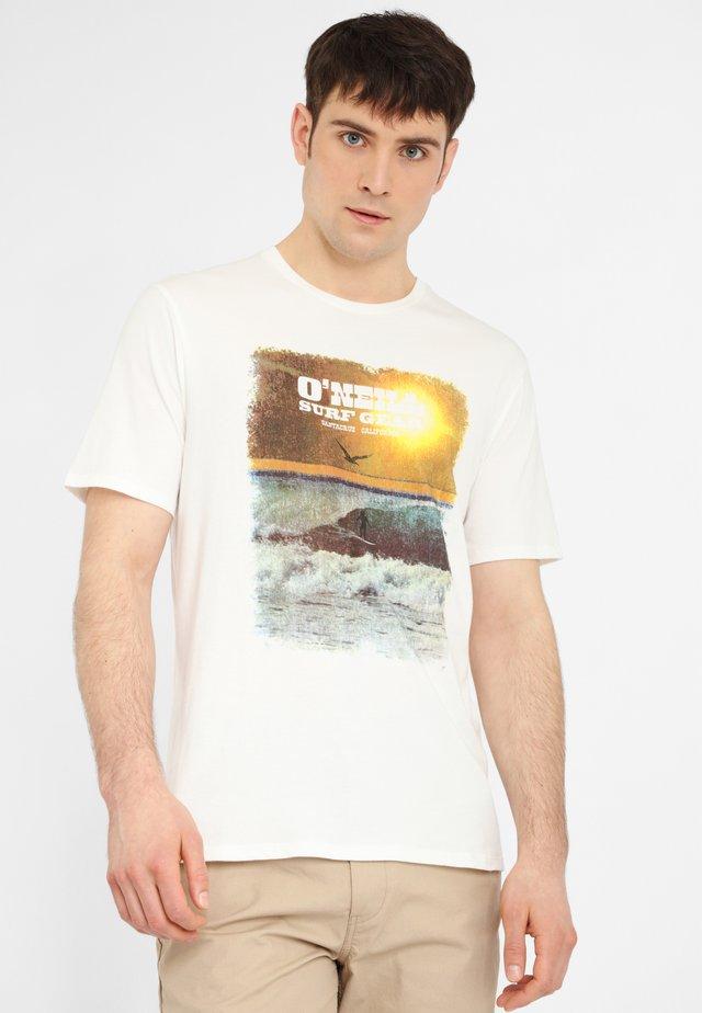 SURF GEAR - T-Shirt print - powder white