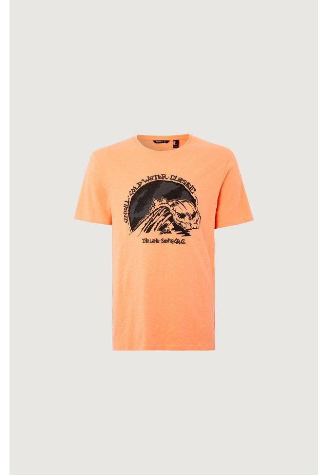 COLD WATER CLASSIC - Print T-shirt - orange