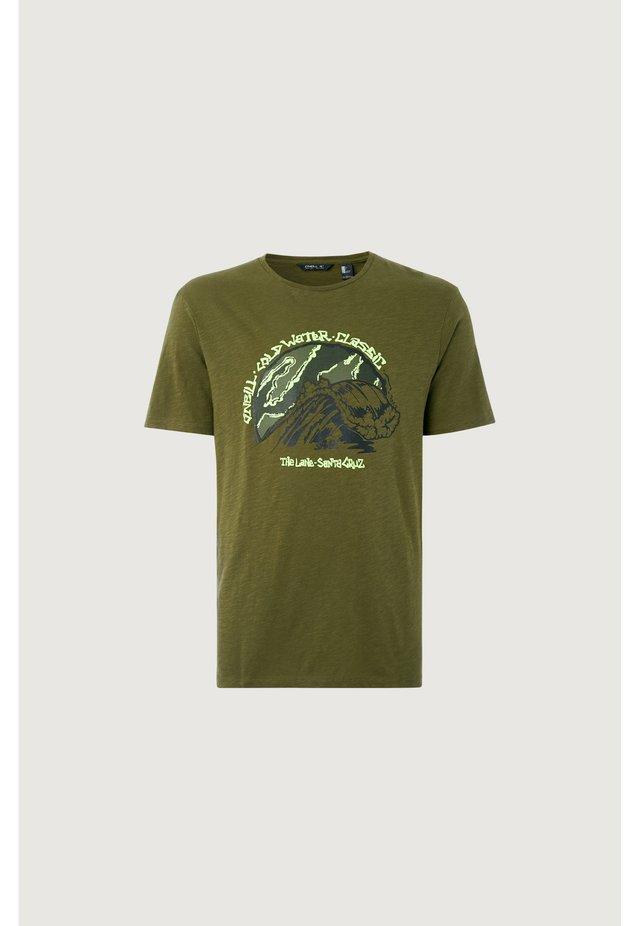 COLD WATER CLASSIC - Print T-shirt - grun