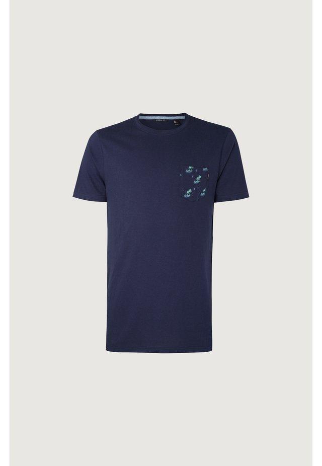 PALM POCKET - T-shirt imprimé - dunkelblau