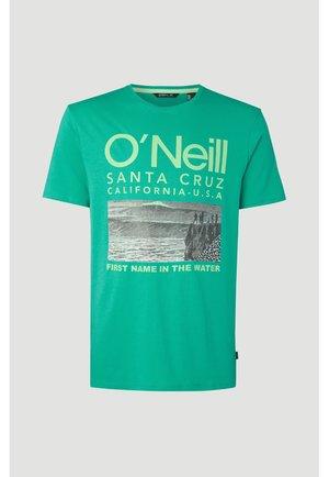 T-shirt print - salina green