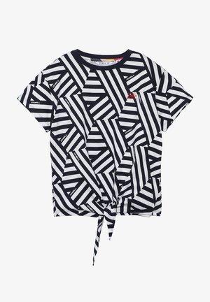 MIT KNOTEN - Print T-shirt - black/white