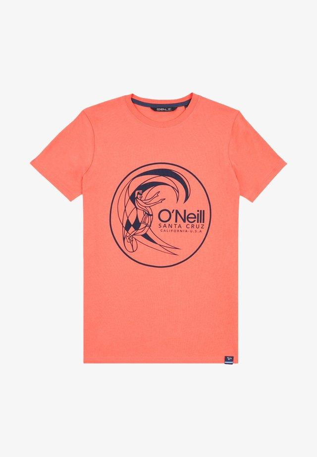 T-shirt print - mandarine