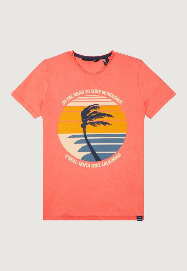 PALM PRINT - T-shirt print - orange