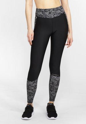 Legging - schwarz weiß