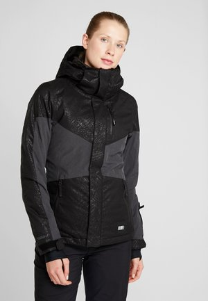 CORAL JACKET - Snowboard jacket - black/white