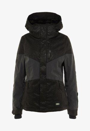 CORAL JACKET - Snowboardjacka - black/white