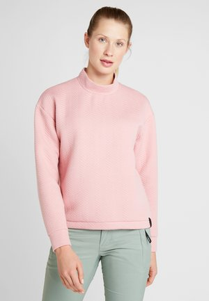 ARALIA QUILTED CREW - Sweater - bridal rose