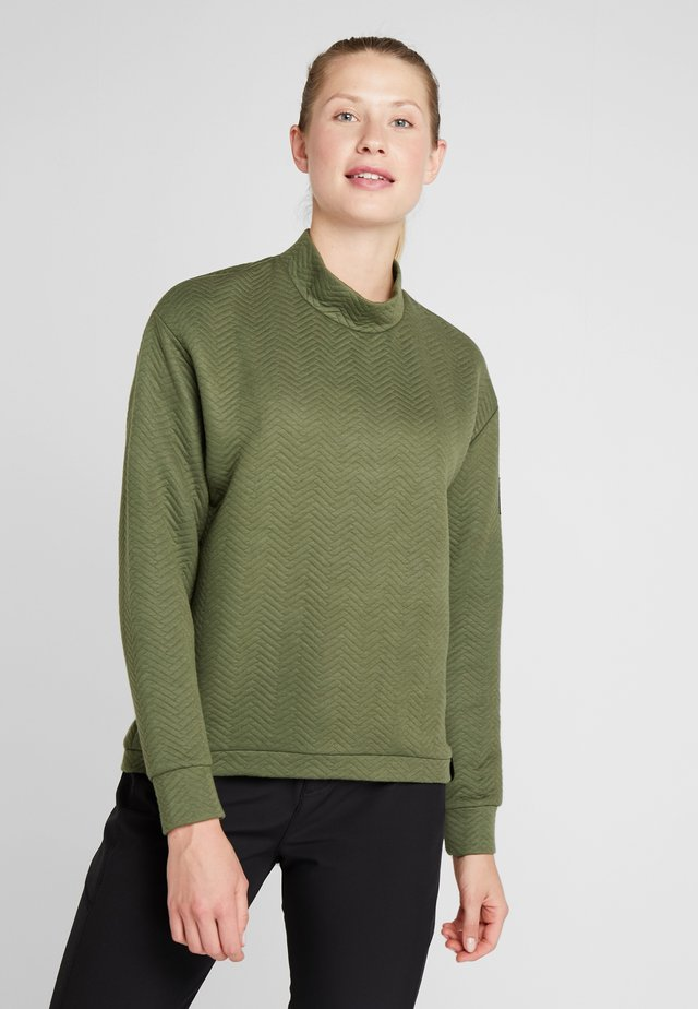 ARALIA QUILTED CREW - Sweatshirts - winter moss