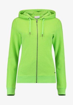 Hoodie met rits - fluor green
