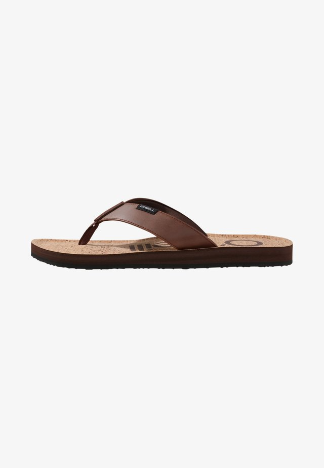 CHAD  - T-bar sandals - chateau beige