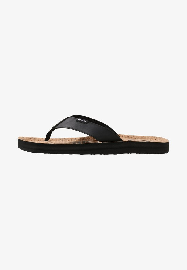 CHAD  - T-bar sandals - brown aop