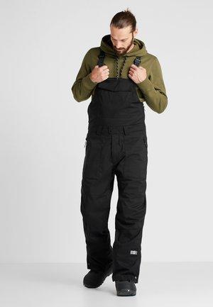 SHRED BIB PANTS - Zimní kalhoty - black out