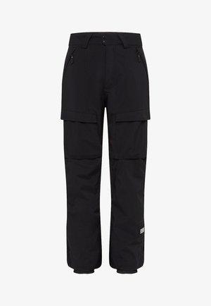 CARGO PANTS - Pantalon de ski - black