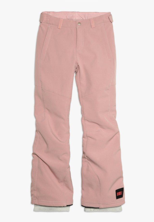 CHARM SLIM PANTS - Spodnie narciarskie - bridal rose