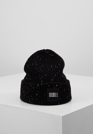 MELANGE BEANIE - Berretto - black out