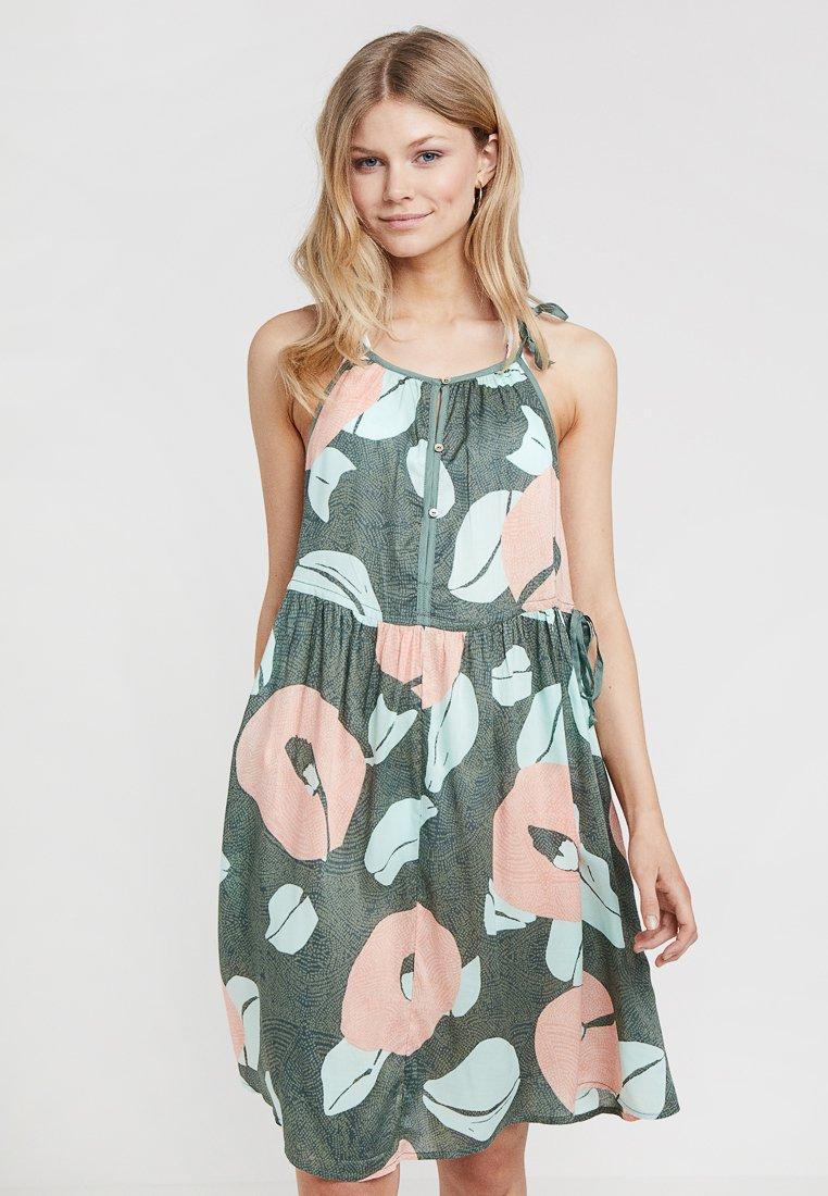 O'Neill - HIGH NECK BEACH DRESS - Strandaccessoire - green/pink