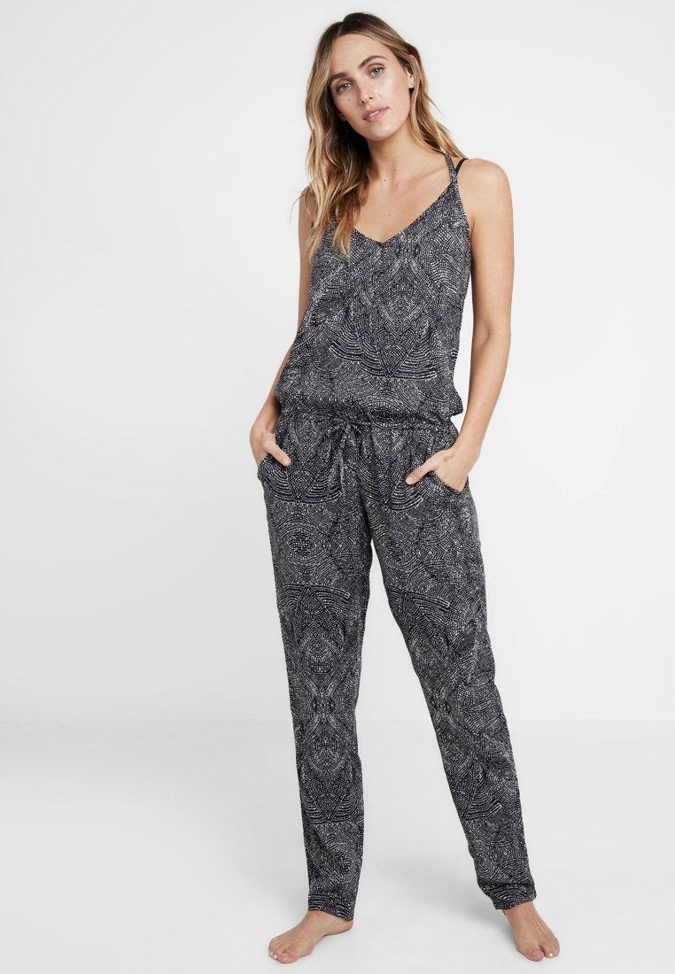 O'Neill - SAND CITY PRINT JUMPSUIT - Beach accessory - black/white