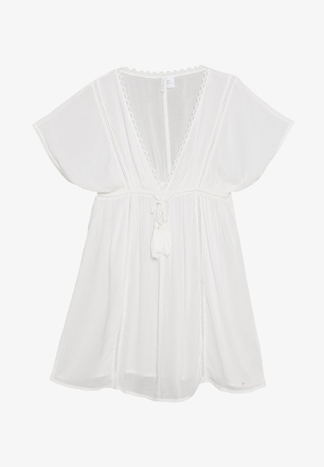 BOHO COVER UP - Beach accessory - powder white