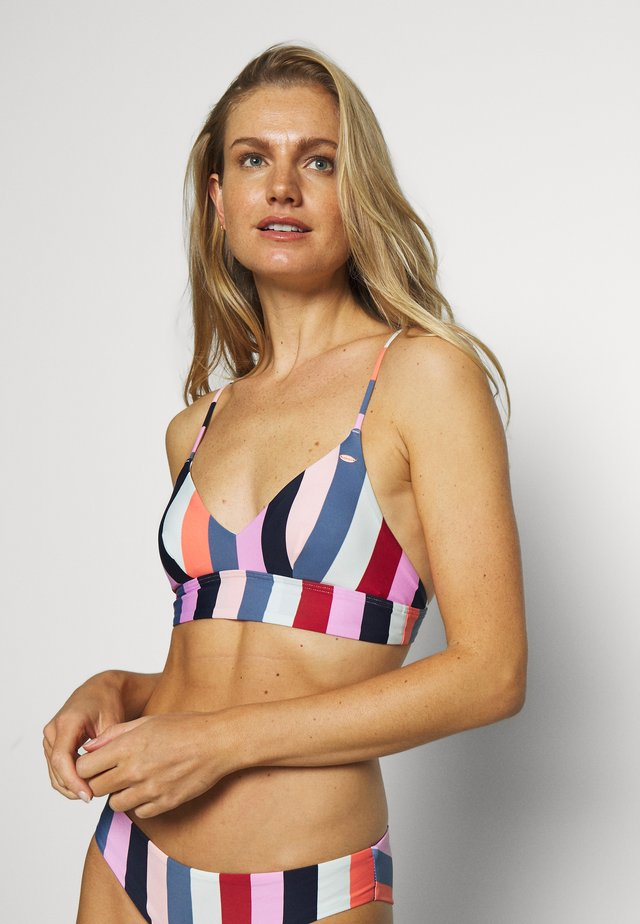 WAVE MIX - Bikini top - red/blue