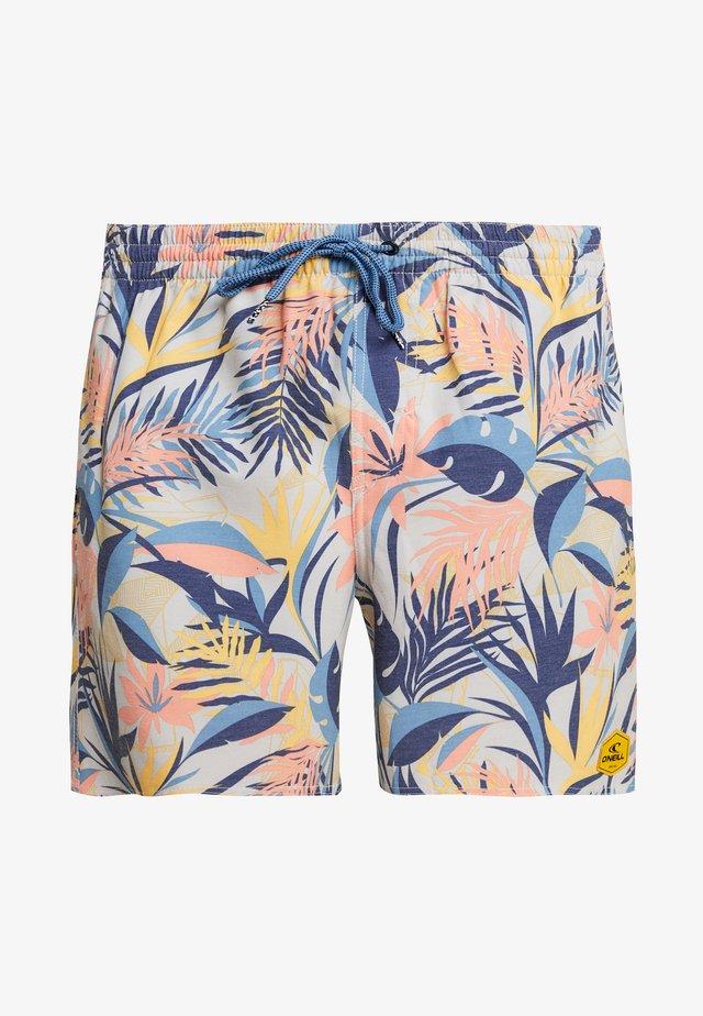 HAWAII FLORAL  - Badeshorts - brown/beige/ blue