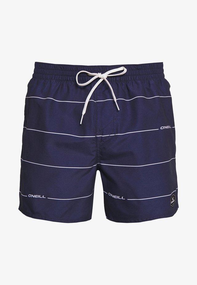 CONTOURZ - Plavky - blue/white