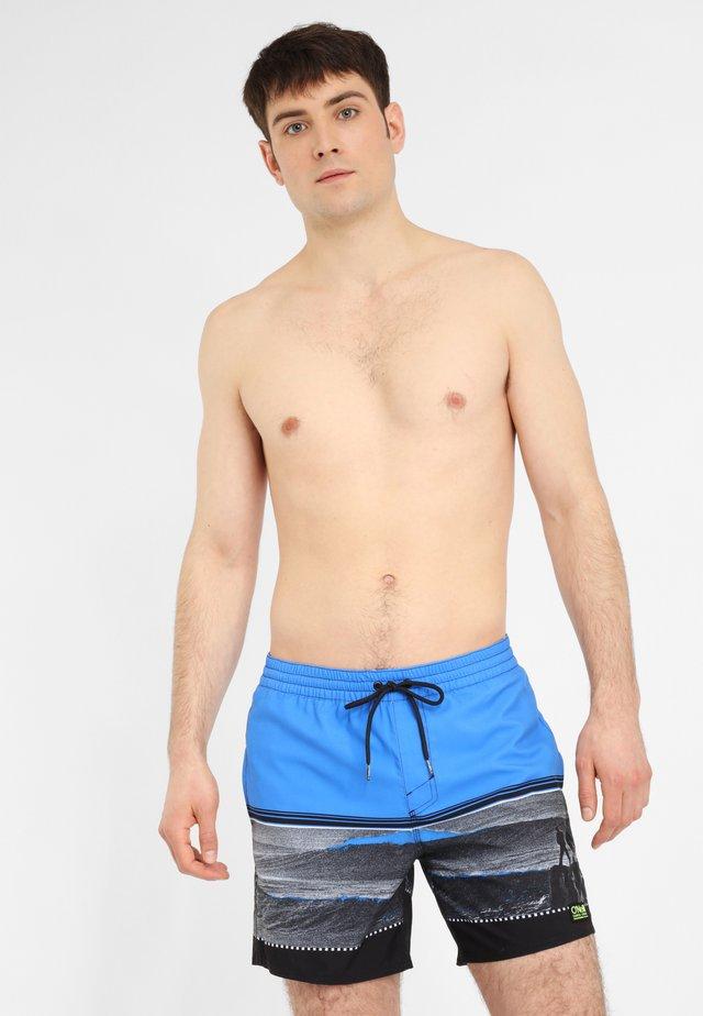 THE POINT - Short de bain - schwarz und blau
