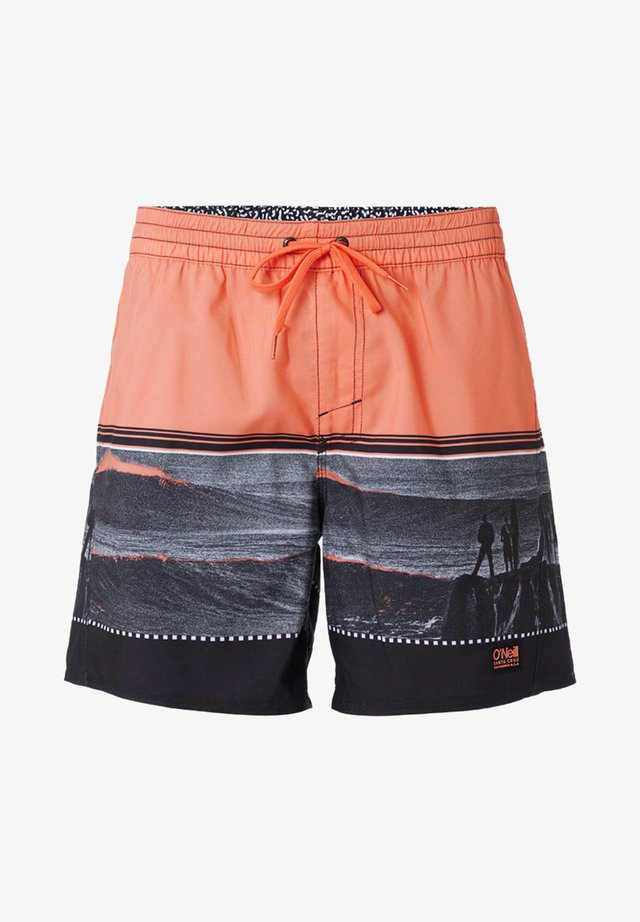 THE POINT - Zwemshorts - black/pink