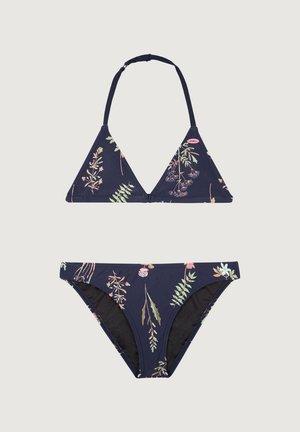 VENICE - Bikini - blue aop w/ pink or purple